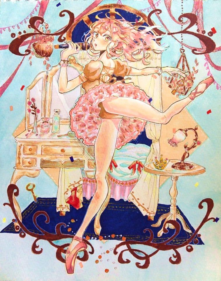 バレエアイドル Illust of あはちゃ AnalogDrawing girl Copic