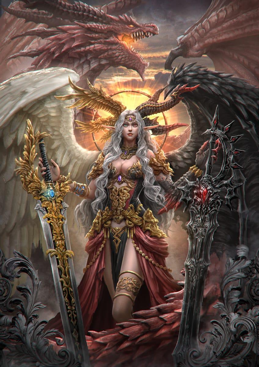 Lucifer Illust of ZeL fantasy February2021_Fantasy original 堕天使 dragon
