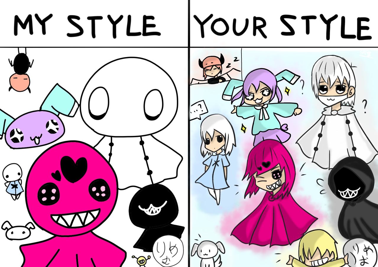 To りめむ (My style) Illust of 神祕的星彩star 特效blingbling cute 訓練陰影 Mystyle ghosts 訓練人物 りめむ