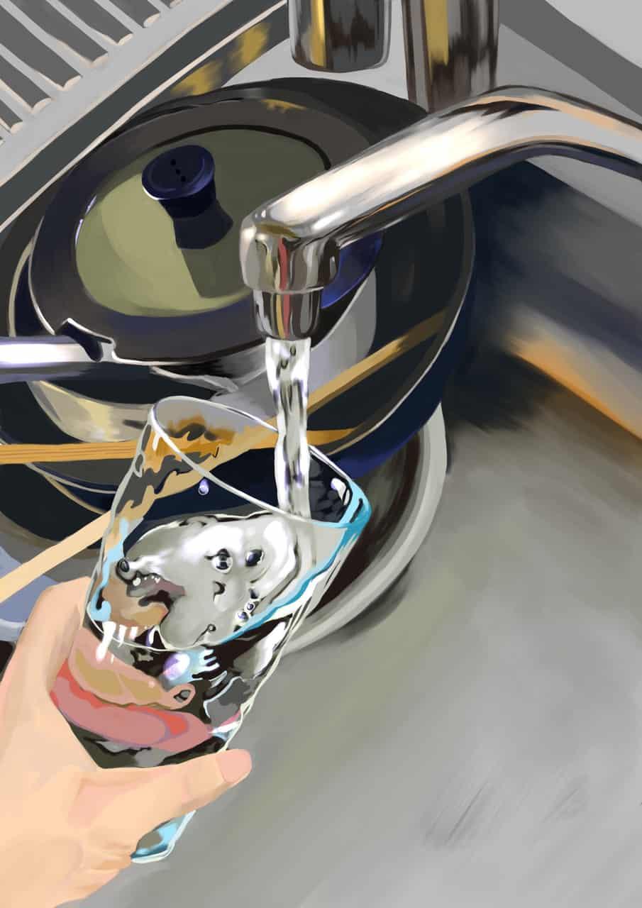 ②水道水 Illust of さや brag.your.country 厚塗り風 illustration water