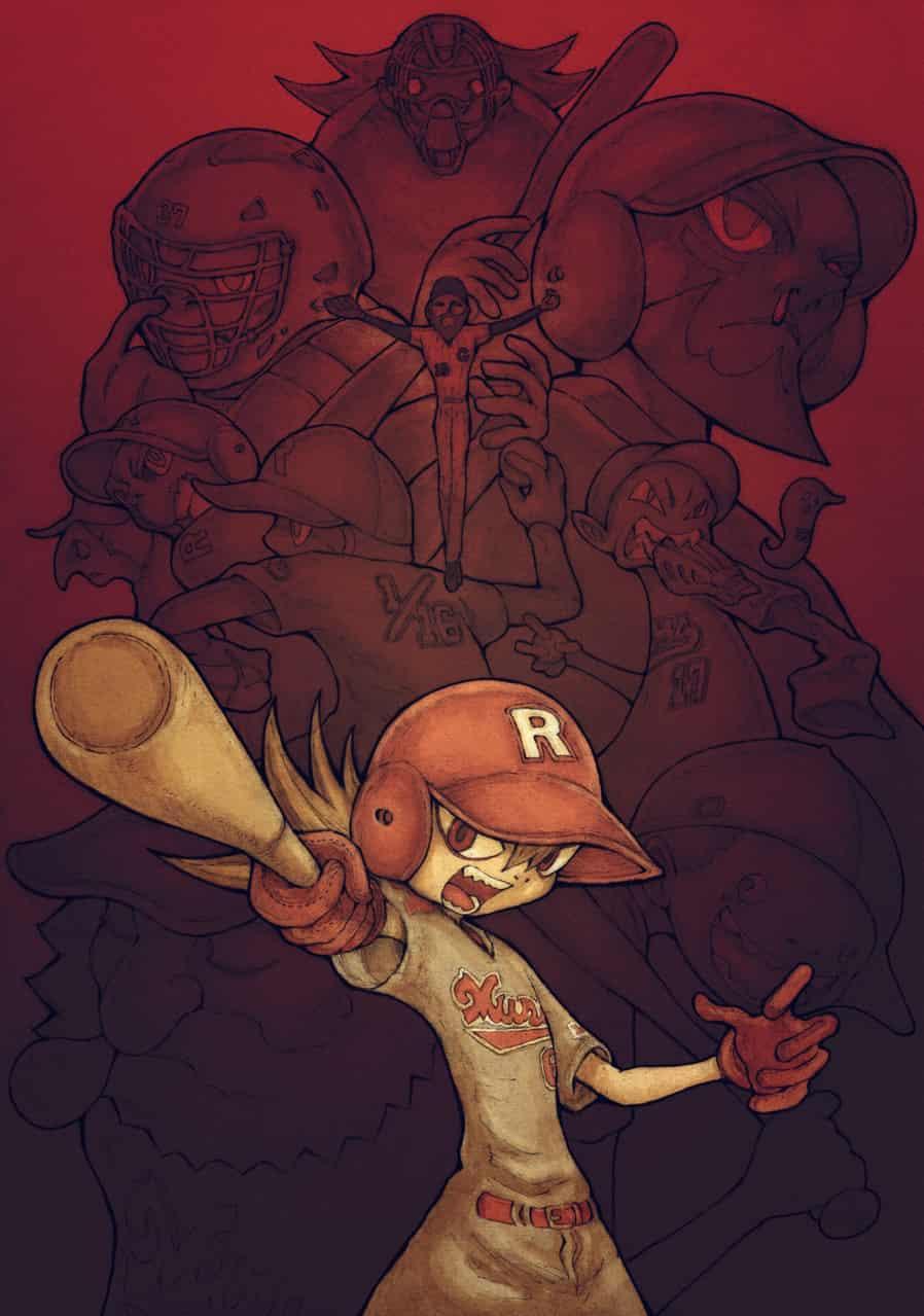 【BB49-17】素晴らしいアメリカ野球 Illust of ウスイソト 素晴らしいアメリカ野球 BB49 フィリップ・ロス