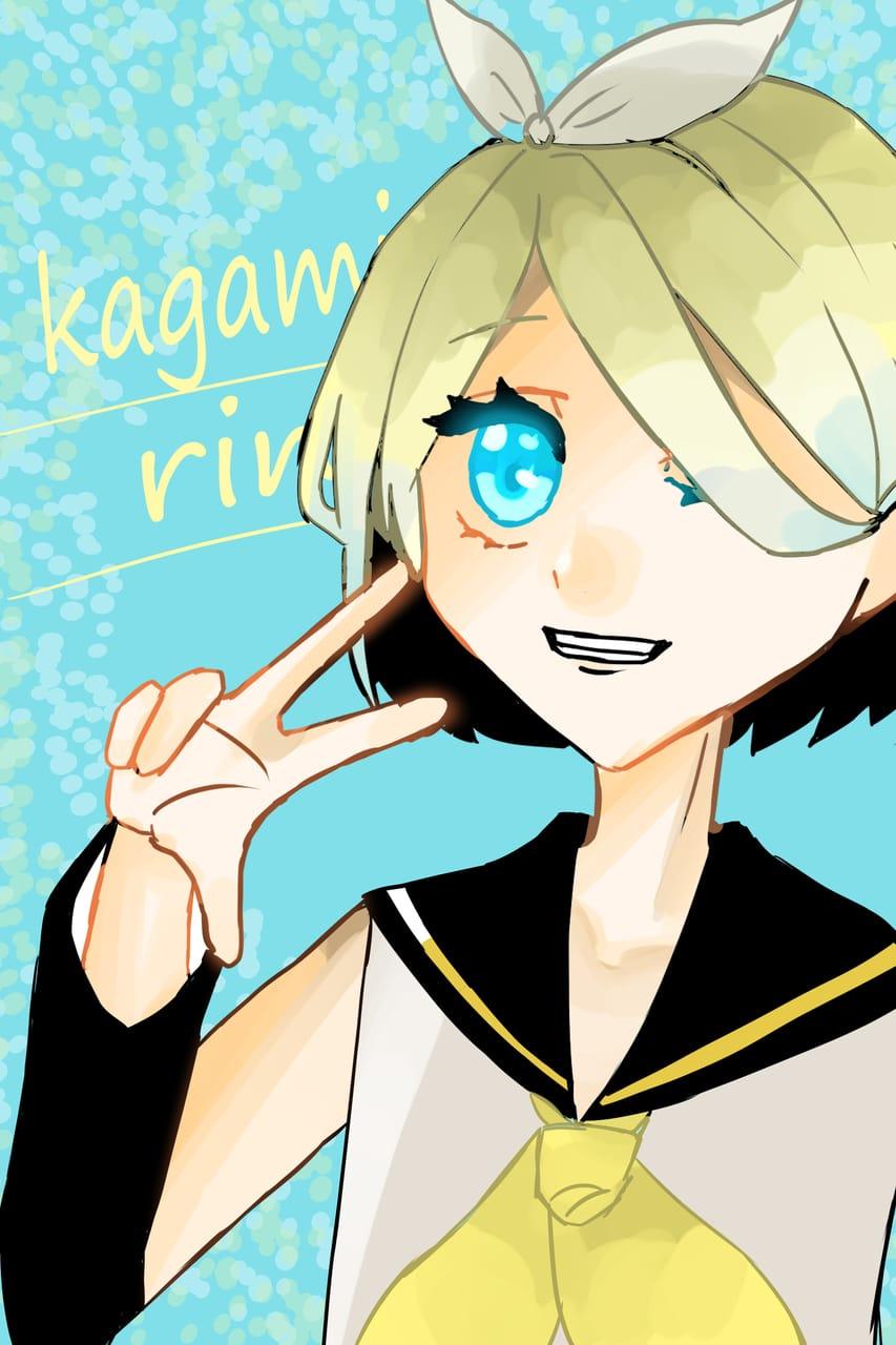 にゃんちゃんからのリク Illust of おみそ#田舎同盟 Kagamine_Rin girl kawaii illustration CLIPSTUDIOPAINT fanart blonde VOCALOID