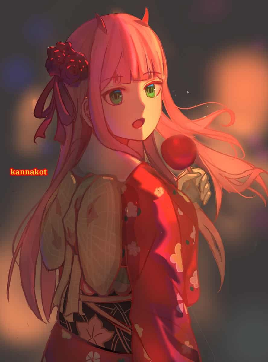 02 Illust of kannakot Kyoto_Award2020_illustration 02 DARLINGintheFRANXX