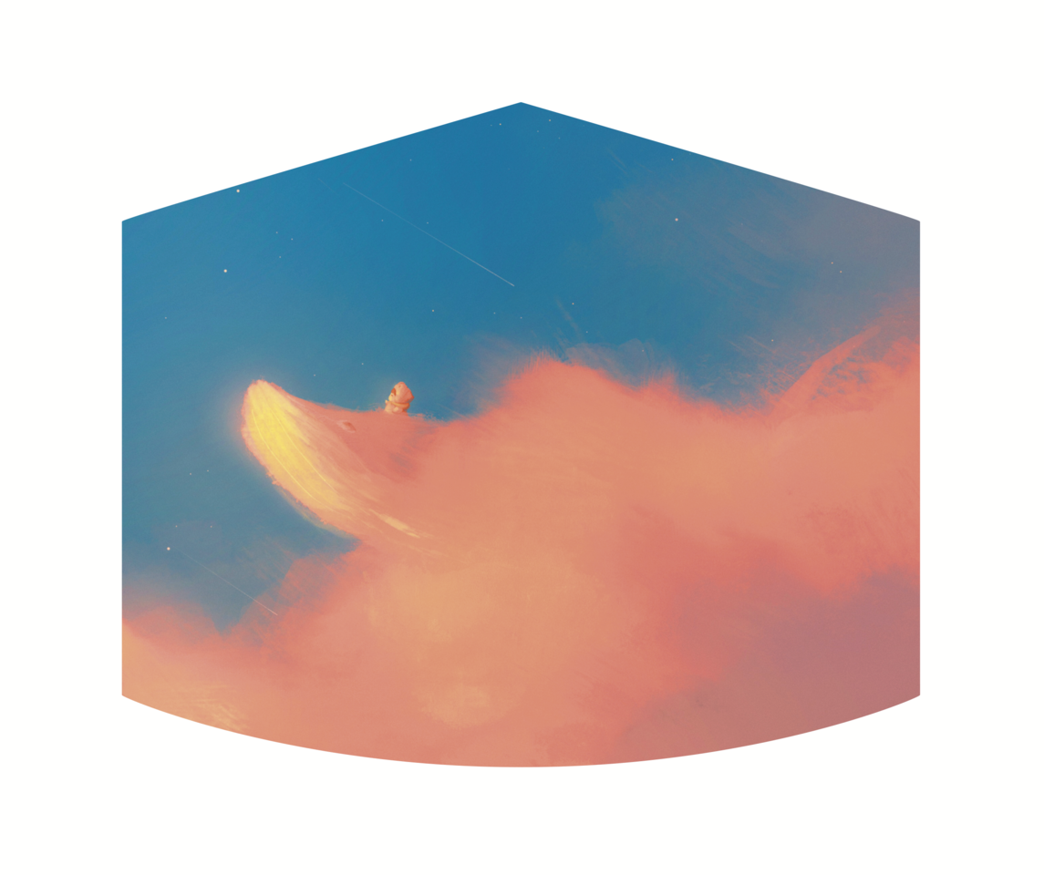 Sky With Yu Illust of Gummy.yy MaskDesignContest dreamy cute whale