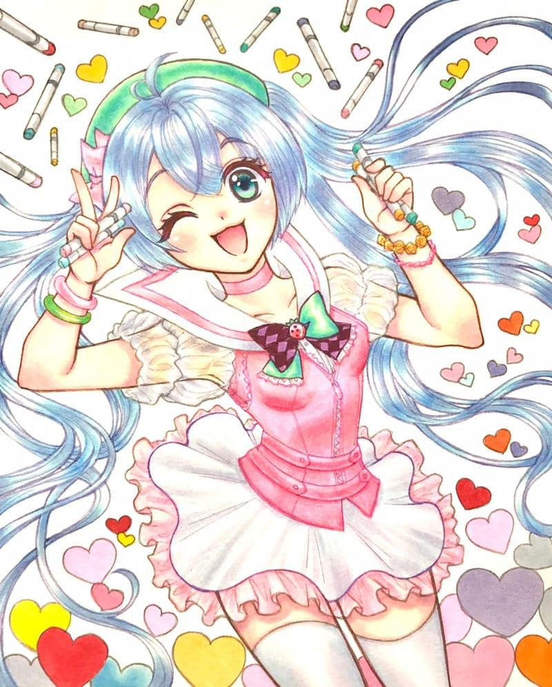 コピック絵師の女の子 Illust of コトノ original girl cute Copic 絶対領域