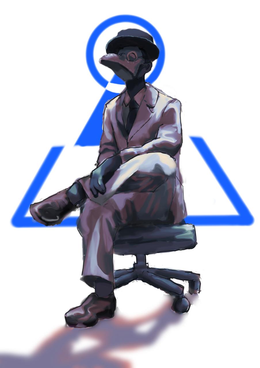 Illust of w MySecretSocietyContest ボス original ロゴ 会議
