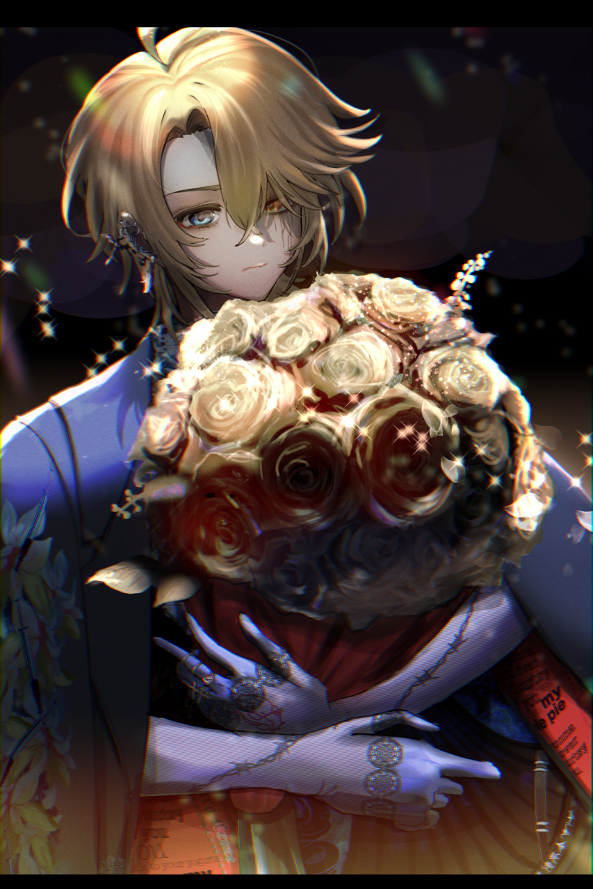 lost Illust of Geronika April2021_Flower oc 花束 original