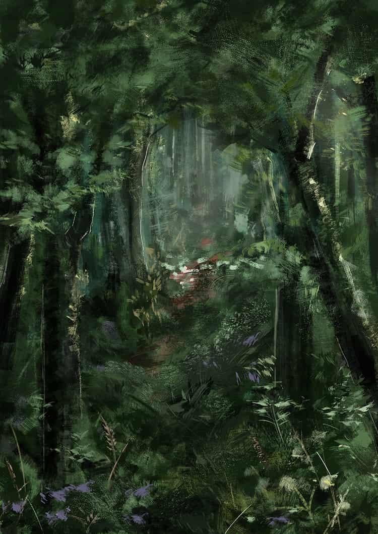 夏の森 Illust of 深海碧 scenery forest original