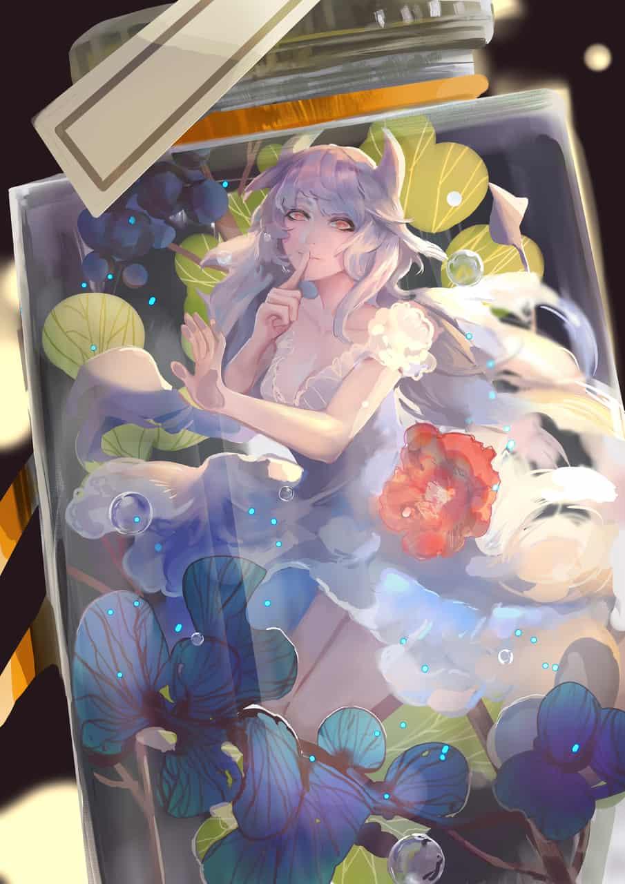 瓶中細語 Illust of 時椏Arsha 玻璃瓶 girl 瓶中花 fairy