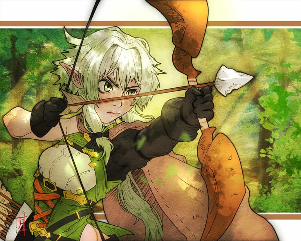 Goblin Slayer High Elf Archer fanart by halimunali