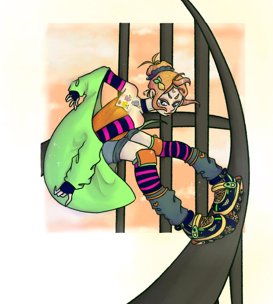 Contest entry for ·Ãutumñ· Illust of Clover rollerskates digital noontime ContestEntry ·Ãutumñ·