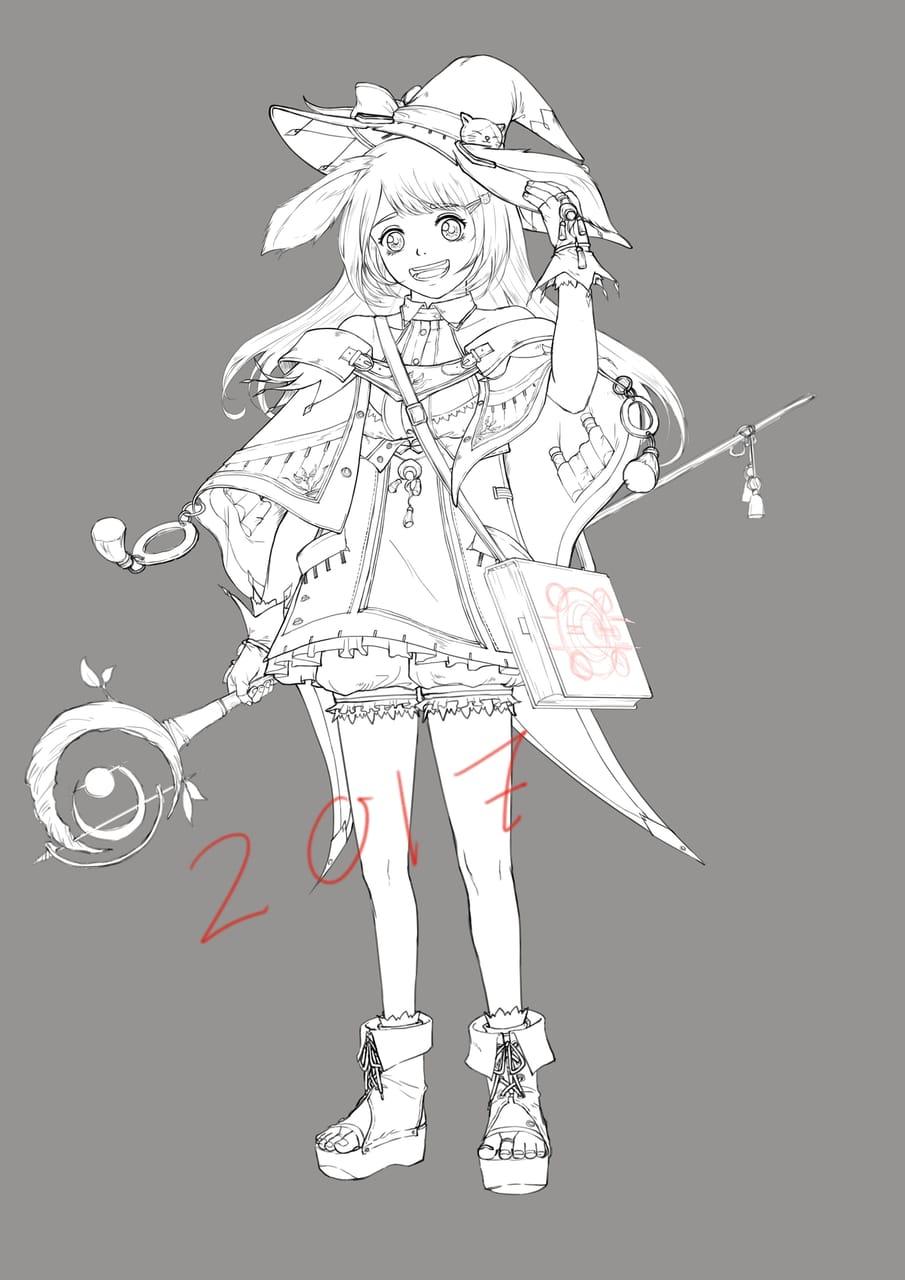 魔女 Illust of YongNing bluesky witch oc