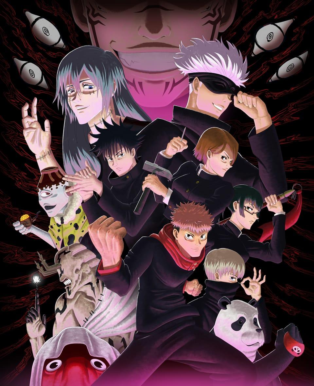 Jujutsu Kaisen Splash Illust of Cran JujutsuKaisenFanartContest shonen anime SatoruGojō ShonenJump manga JujutsuKaisenfanart Yuji_Itadori JujutsuKaisen