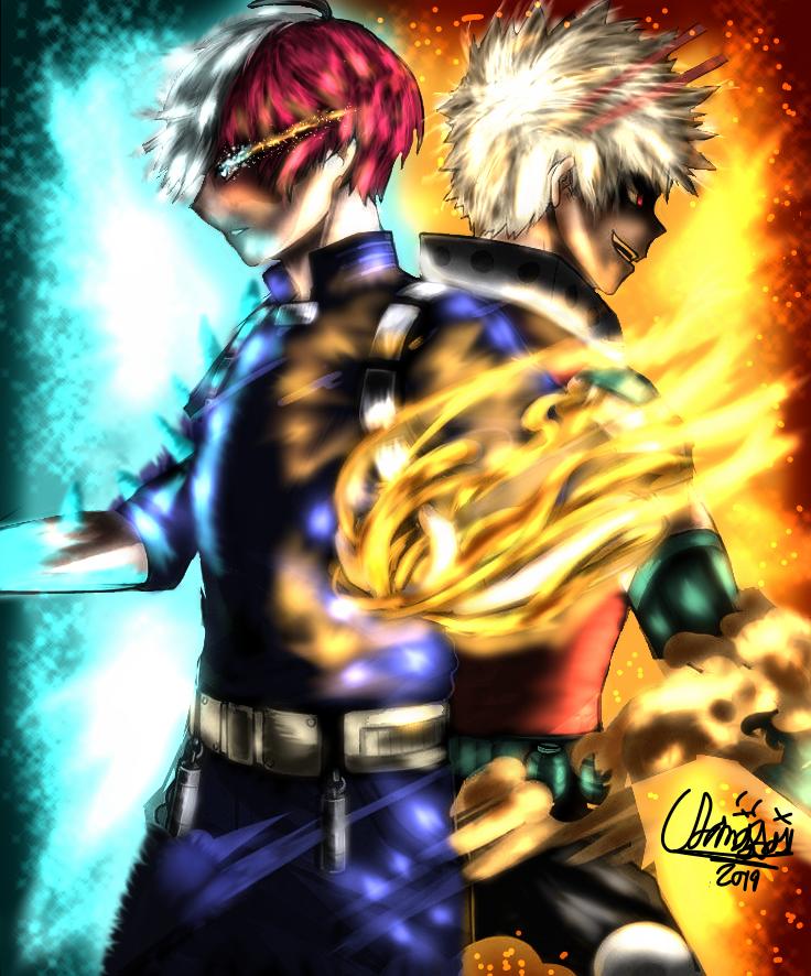 Todoroki and Bakugou