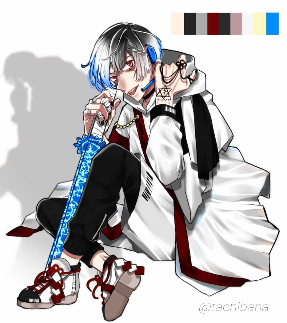 番犬 Illust of たちばな original kimono MedibangPaintart 銀髪 boy illustration ARTstreet イラストレーター oc