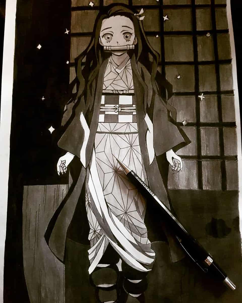 鬼滅の刃. Illust of soulmate0130 DemonSlayerFanartContest illustration KamadoNezuko fanart Artwork manga art drawing KimetsunoYaiba medibangpaint anime