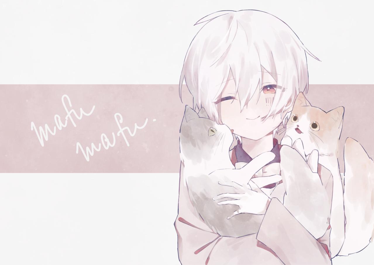 Illust of みぞれ white_hair cat kawaii