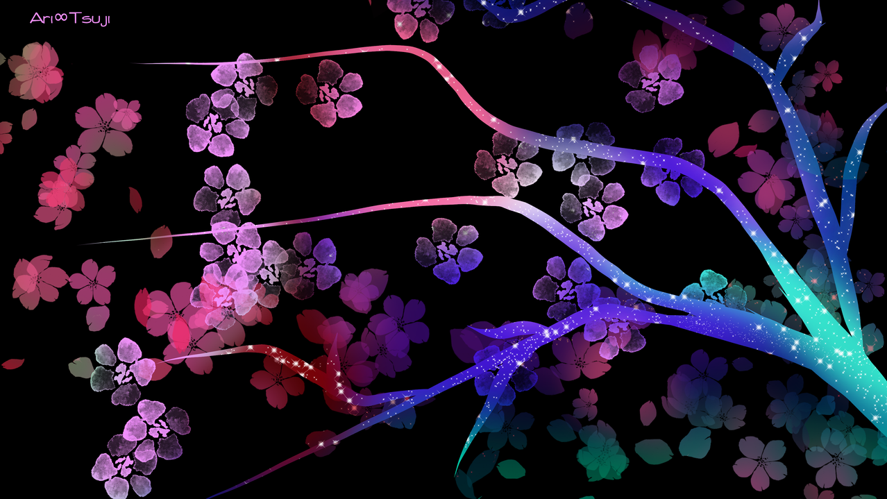 Naturaleza Illust of Ari Tsuji fantasy flores medibangpaint