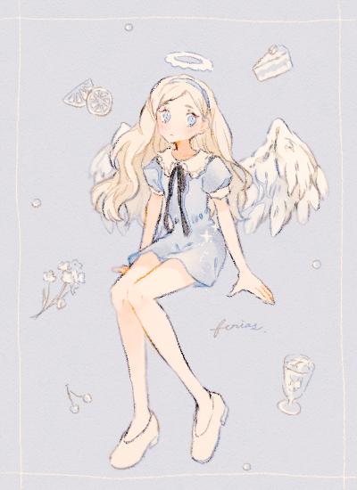 天使の休日 Illust of 緑乃 original angel girl