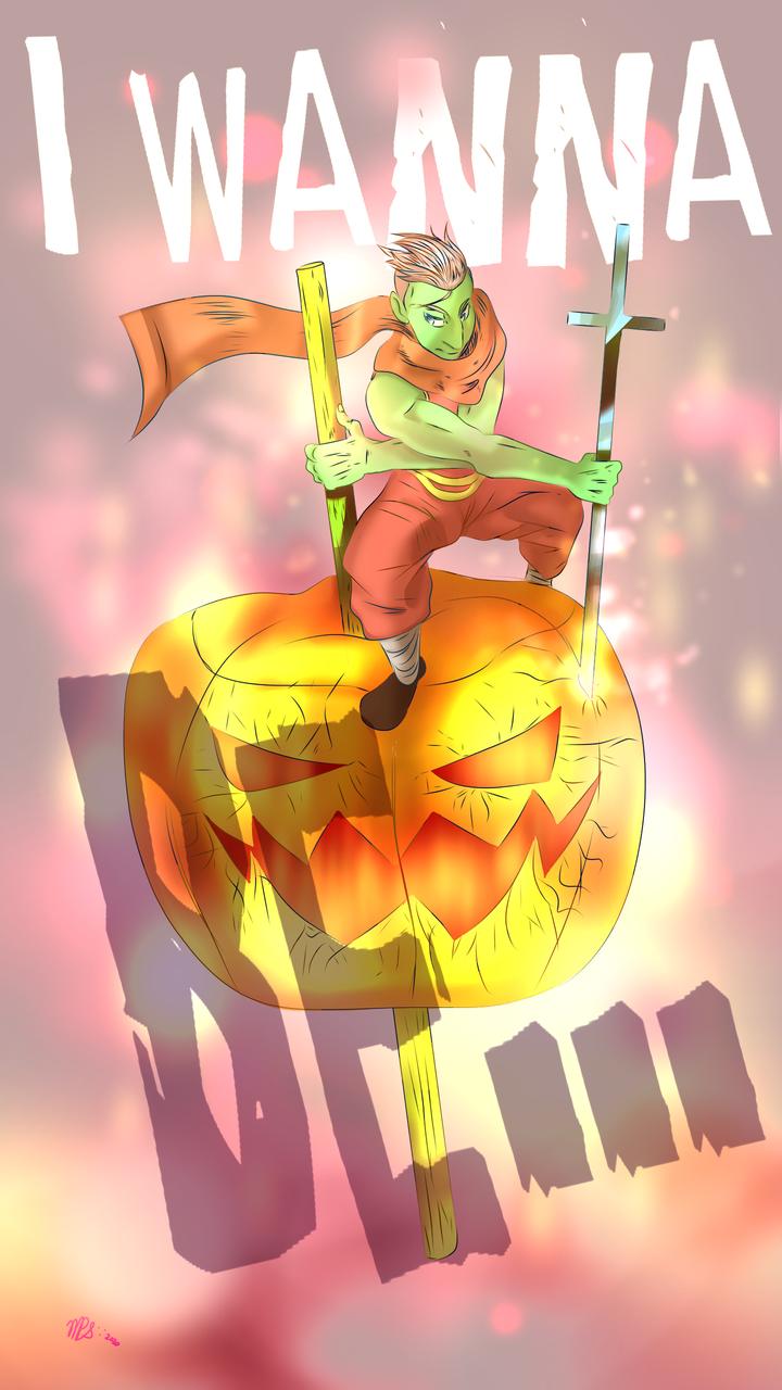 I WANNA BE... Illust of Michel VP wallpaper art Michel Halloween anime VP Br
