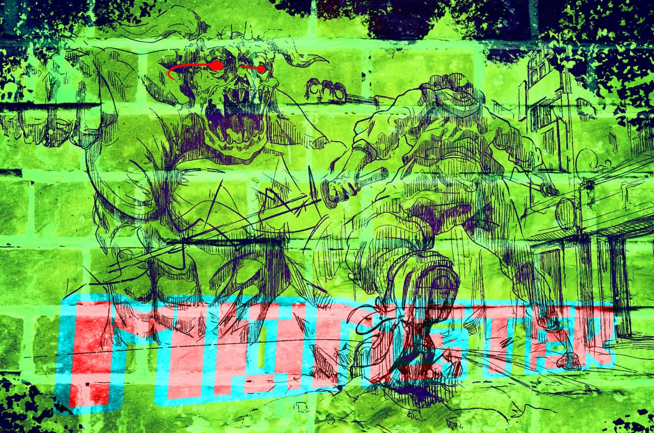 MONSTER Illust of ggday June2020_Contest:Street_Art drawing painting green medibangpaint illustration Comics hero monster sketch