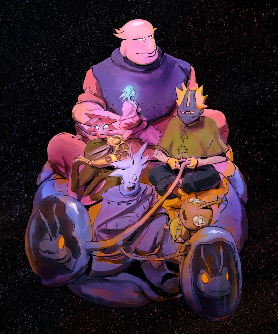 Ride with Friends Illust of zeekh January2021_Contest:OC art Comics blackartist aliens webcomic residuums illustration drawingwhileblack web Webtoon