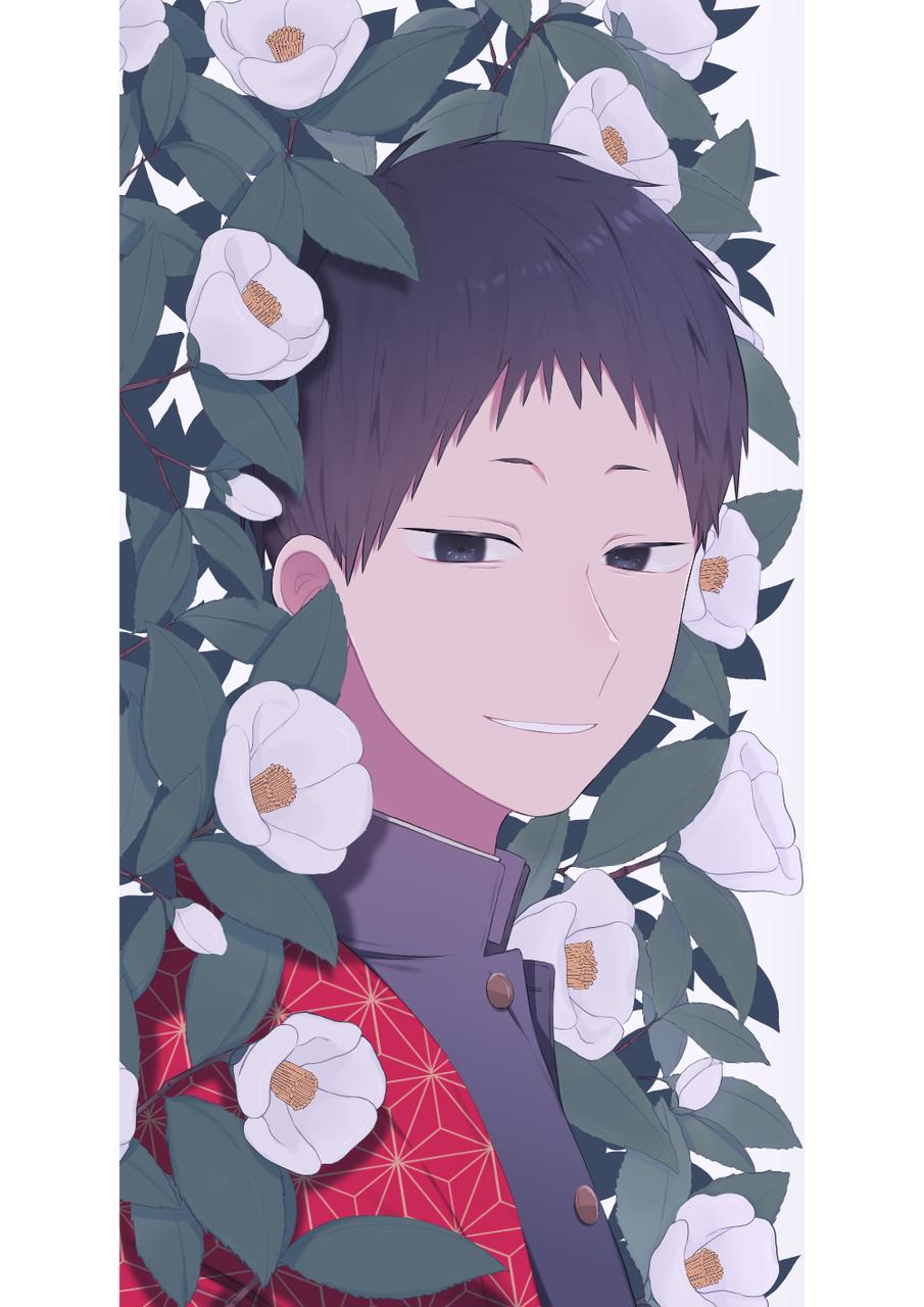 落ちて、それから Illust of 並 medibangpaint 学ラン flower 椿