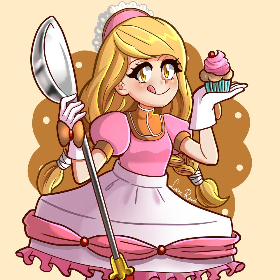 magical dessert girl by Lalen Rasch  Illust of LalenRasch Cristo es rey! illustration Oc's girl illustrations animegirl original drawing animestyle originalart digital