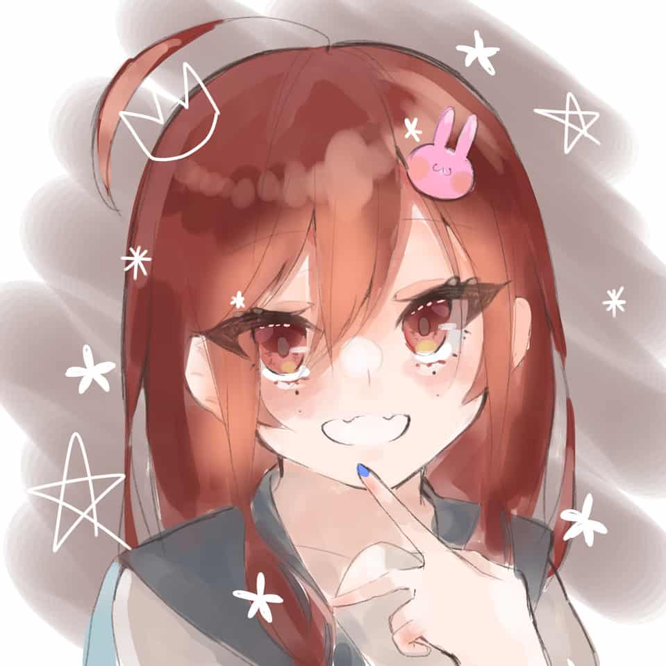 💫 Illust of あきと red girl doodle