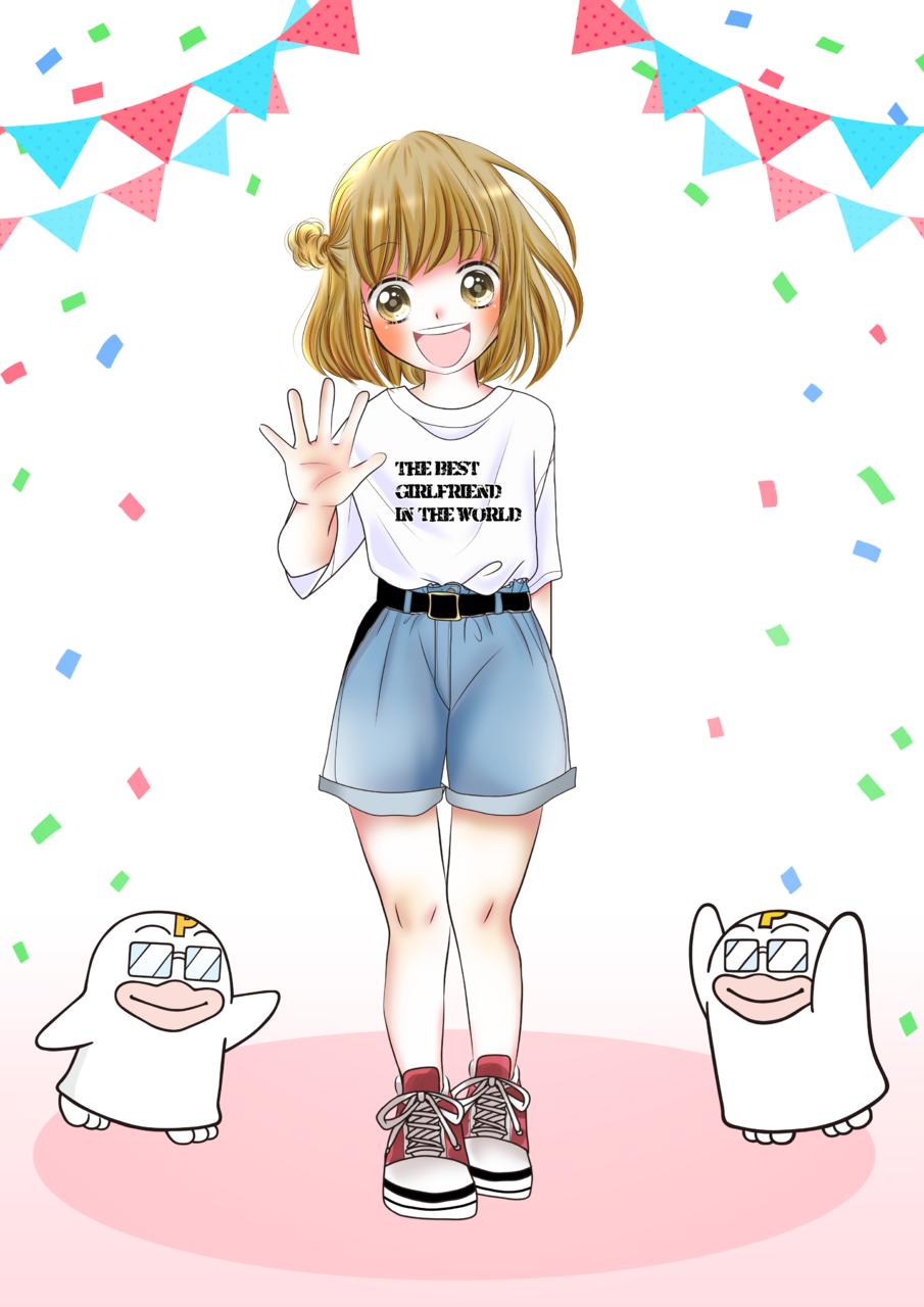 初めてのお出かけ Illust of はな PICO公式キャラクターPICOQガールフレンド大募集!!コンテスト medibangpaint 中学生 彼女 girl kawaii