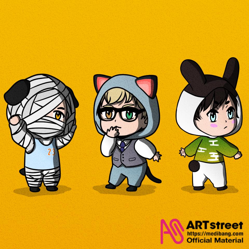 Animal Crossing Illust of ArtBreakKids tracedrawing3rd Trace&Draw【Official】 bunny cat AnimalCrossing Lucky dog raymond Genji