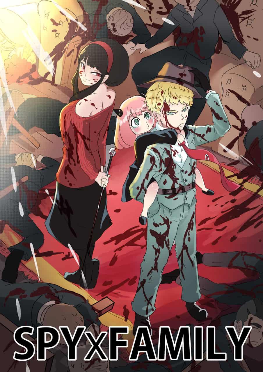 Mission to save Anya: Accomplished! Illust of Momogi SPY×FAMILY_Contest manga SPY×FAMILY Family