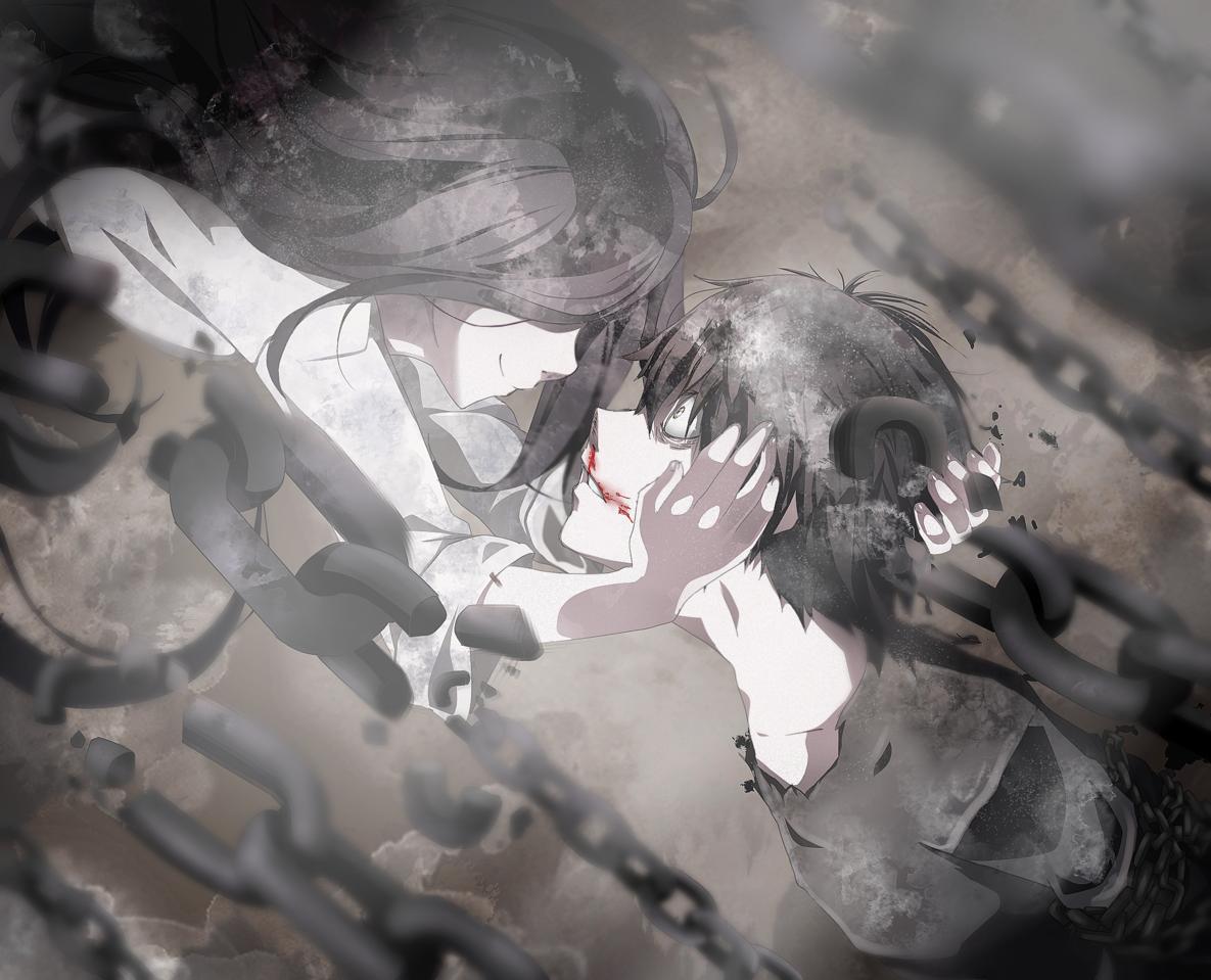 Dark love Illust of Rea oc dark light love chains