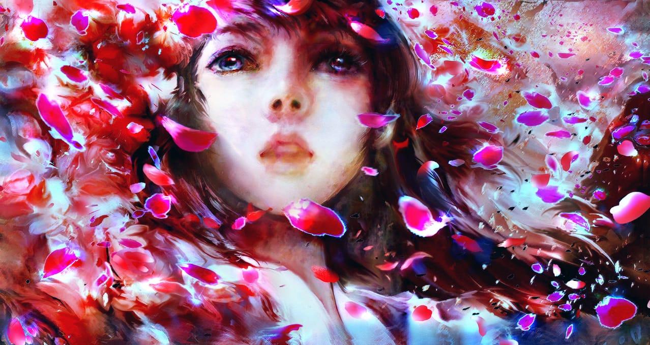 紅花雨 Illust of 晴夜星子 April2021_Flower 第一屆繪王盃角色創作大賽 MasterpieceFanart MySecretSocietyContest 紅花雨