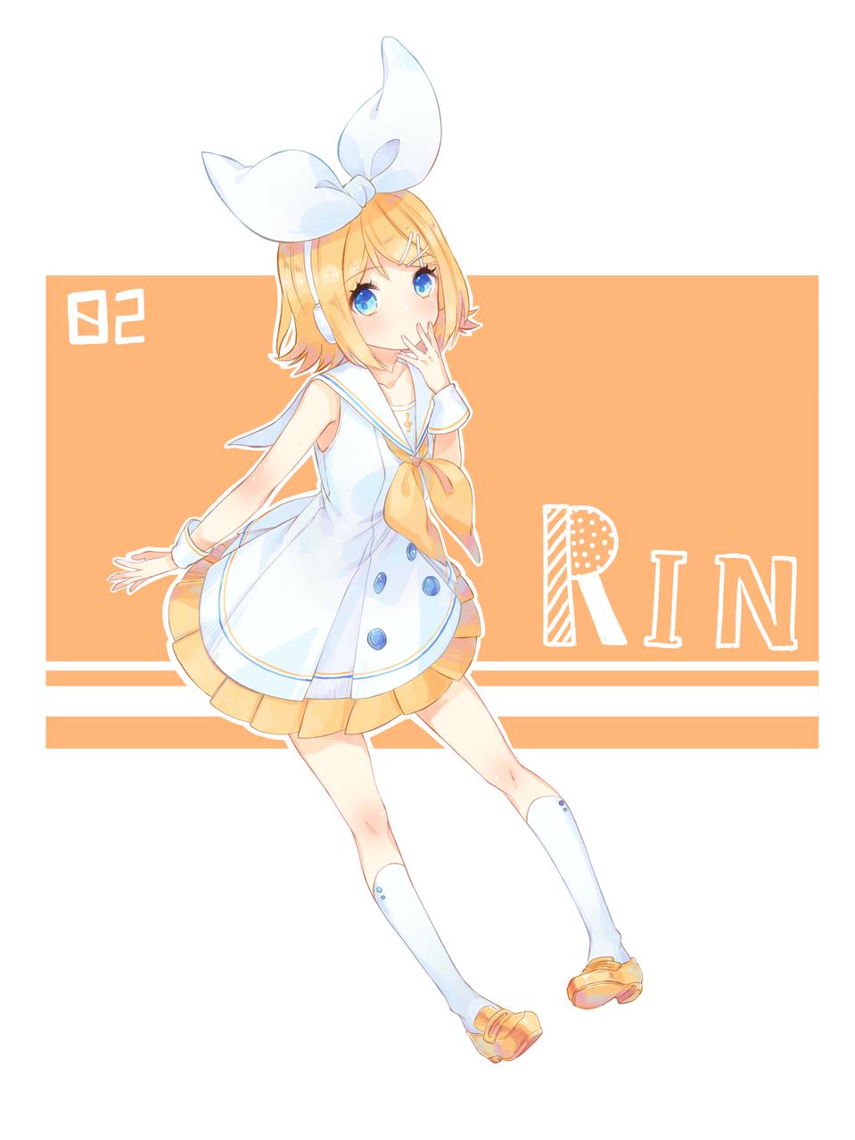RIN Illust of ほづみ りの medibangpaint VOCALOID fanfic Kagamine_Rin