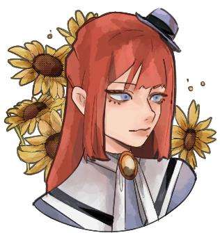 ひまわり Illust of Kimikimta ひまわり girl gothic icon medibangpaint sunflower headshot