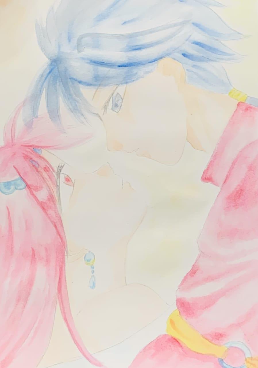 ふしぎ遊戯 Illust of ちを 水彩色鉛筆 fanart ふしぎ遊戯 アナログ