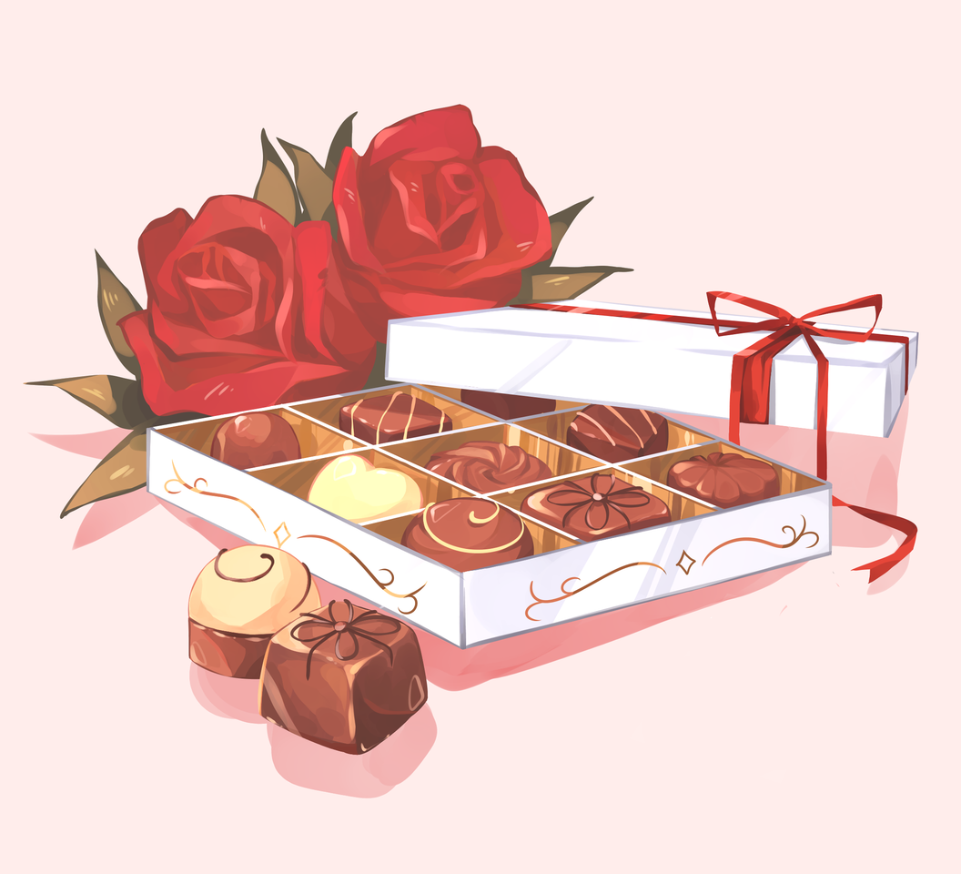 Valentine Choco Illust of Mumechi art drawing iPad_raffle cute illustration food