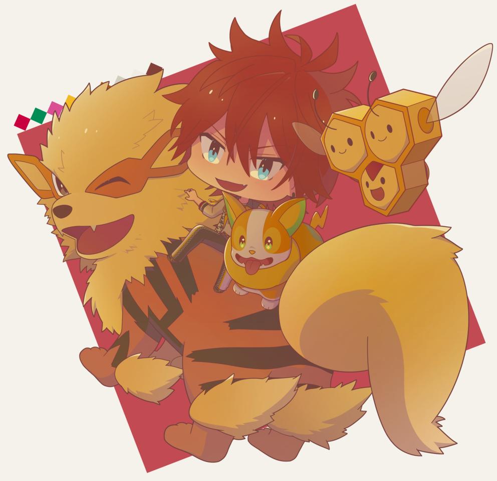 Illust of 芹原 EnsembleStars chibi crossover pokemon 天城燐音
