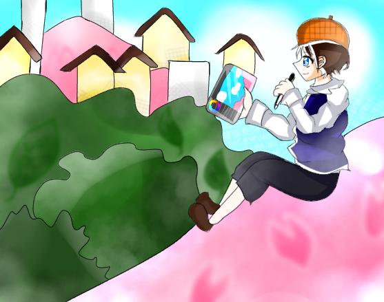 桜 Illust of にこ☆ 小5#腐女子同盟 アイビスペイント boy 星川輝 oc