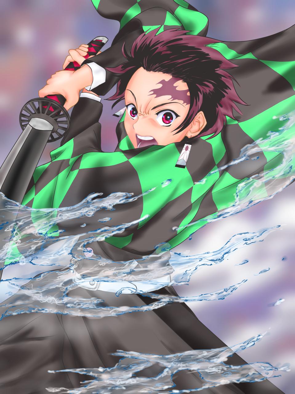 水の呼吸 Illust of ぐっちMAX DemonSlayerFanartContest KimetsunoYaiba KamadoTanjirou