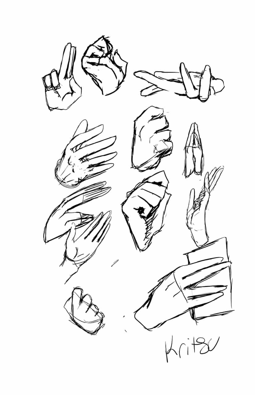 Hand practice Illust of 栗つ🌰 Artwork manga jumppaint Medibang