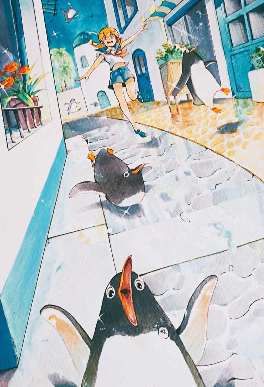 雨上がりのパレード Illust of 陳田こころ Copic girl Penguin illustration アナログ oc