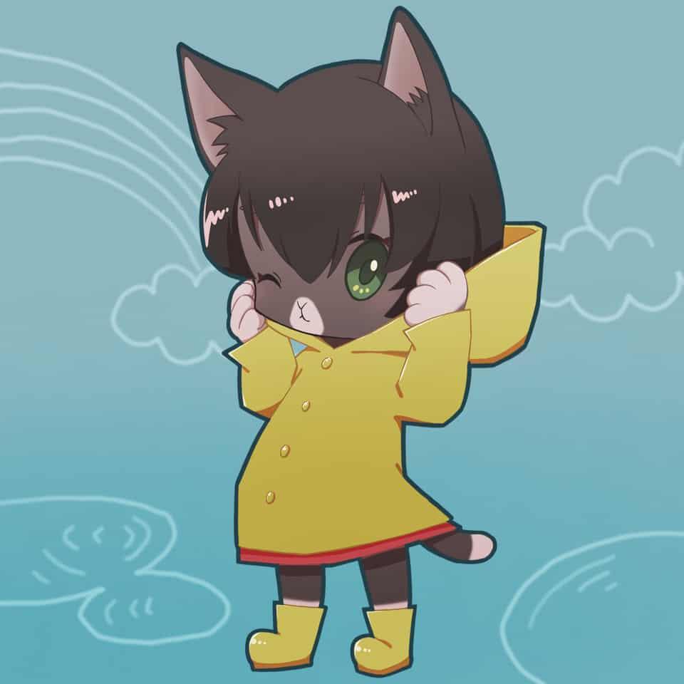 雨上がり Illust of 115alva デジ絵 デジタルイラストレーション Personification けもみみ furry illustration cat anthro デジタルイラスト イラストレーション