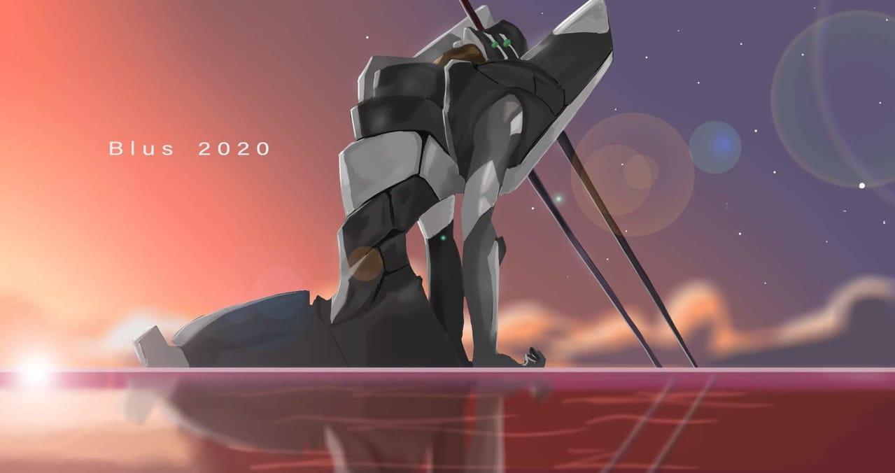 Evangelion 02 Black Illust of WakeBlus EVANGELION EVA art Artwork