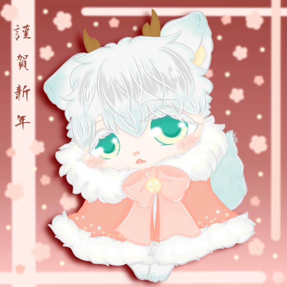 謹賀新年 Illust of 亞 January2021_Contest:OC freeprofilepic original illustration kawaii manga chibi anime oc cute