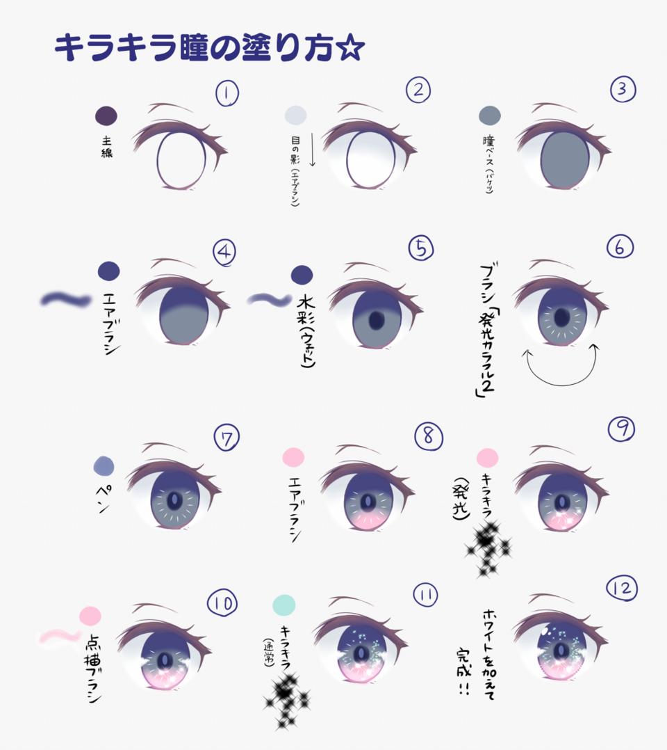 キラキラ瞳の塗り方☆