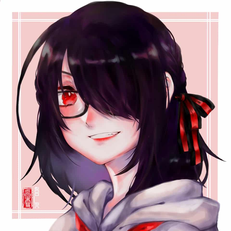 Mascot Illust of Sylphylia medibangpaint girl glasses
