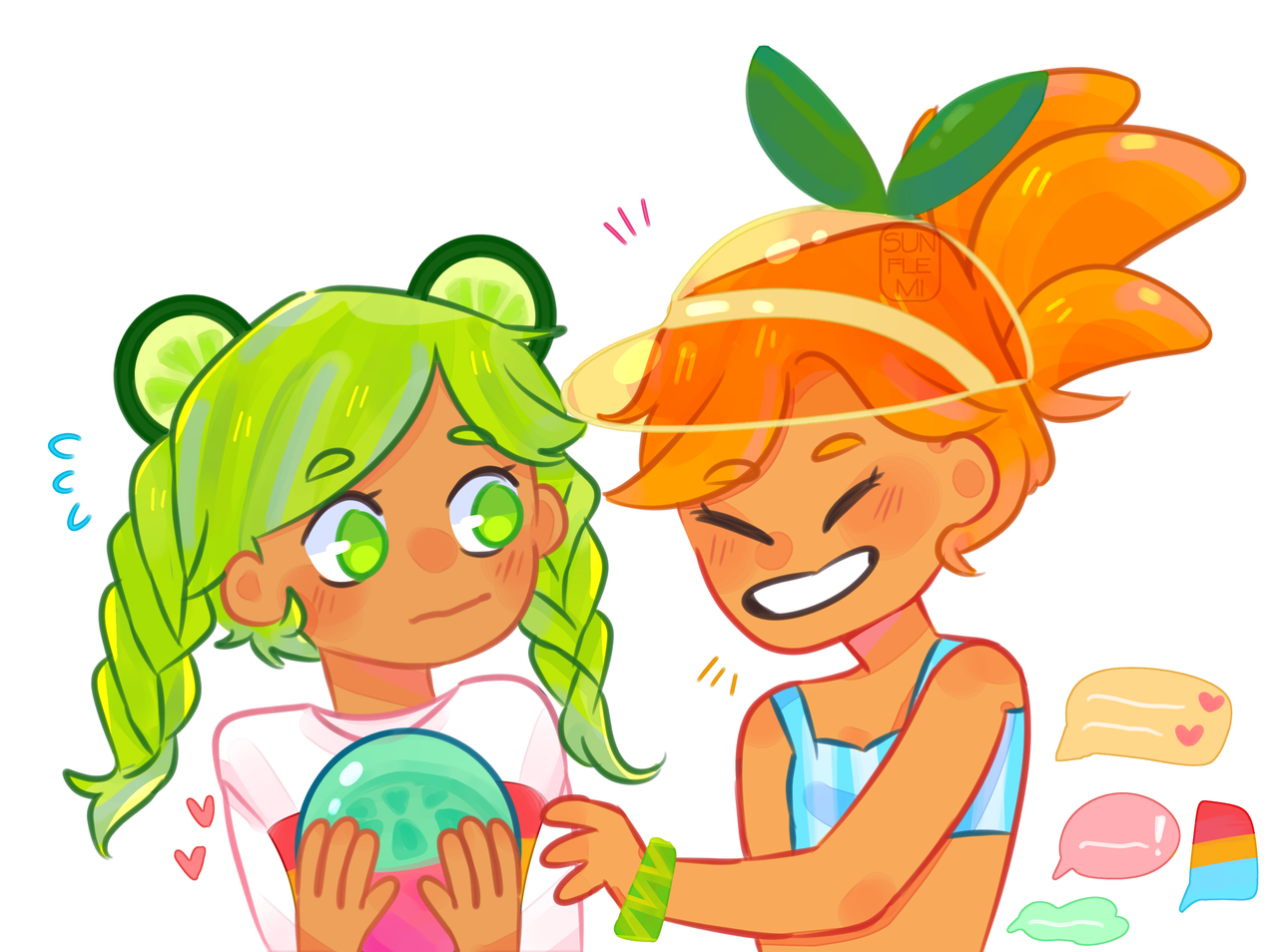 (≧▽≦)💕 Lime Cookie and Orange Cookie