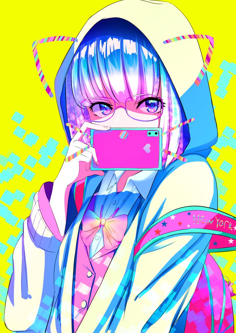 selfie猫 Illust of あやがたひまり ARTstreet_Ranking April.2020Contest:Color original girl selfie glasses